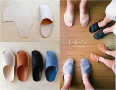How to DIY Simple Pattern Home Slippers / iCreativeIdeas.com