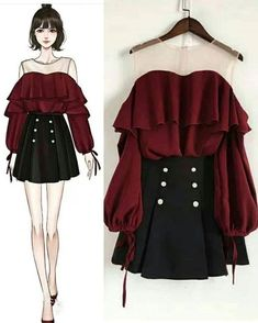 Although we are in quarantine, we continue the designs Kpop Fashion Outfits, Girls Fashion Clothes, Edgy Outfits, Mode Outfits, Cute Casual Outfits, Pretty Outfits, Pretty Dresses, Beautiful Dresses, Girl Fashion
