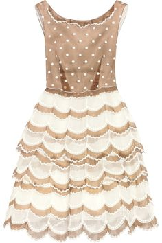 Marc Jacobs Embroidered Polka Dot Sleeveless Dress