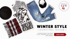 Get everything you need to survive this winter! #ForeverHoliday #Denim #Scarf #Sweater #MustHave