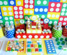 Karo's Fun Land: Legos First Birthday Party