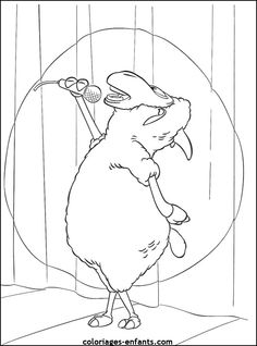 coloriage d'animaux - dessin de mouton à colorier