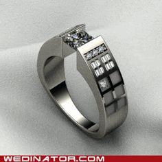 Tardis wedding ring. Yes please!