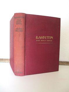 Antique book Rasputin The Holy Devil Rene by vintageboxofdelights