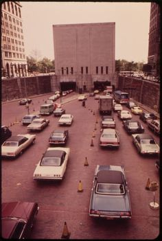 New York City In 1973. Holland Tunnel.