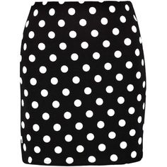 Boohoo Lois Polka Dot Mini Skirt found on Polyvore