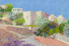 Beit Jala Palestina 01 2014 oil on paper 29 x 19 cm Oil, Watercolor, Paper, Painting, Palestine, Pen And Wash, Watercolor Painting, Painting Art, Watercolour