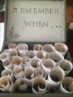 Box mit Erinerrungen - DIY kreative Geschenkideen zum Tag der Liebe
