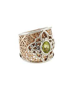 Janice Girardi Silver & Bronze 1.34 cttw. Peridot Ring