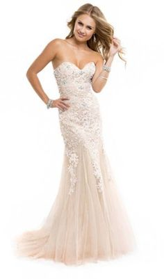 Miranda Ivory Evening Prom Ball Dress Strapless Long Lace Appliques Gown Size 4-14, http://www.amazon.com/dp/B00JWRE4DG/ref=cm_sw_r_pi_awdm_2Zsoub0PRA953