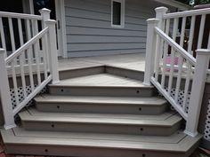 Inviting Drop Down Platform Steps Leading Down To Pool Area Platform Deck,  Deck Steps,