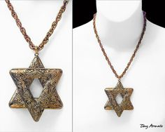 Star Of David  One Of A Kind  Pendant & Statement by TonyArmato