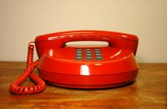 Space Age Orange Telephone By Northern Telecom - Mid Century Modern Plastic Desk Phone