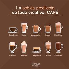 Coffee Type, Coffee Art, Coffee Tasting, Coffee Drinks, Coffee Recipes, Brunch Recipes, Brunch Cafe, Dining Etiquette, Café Bar