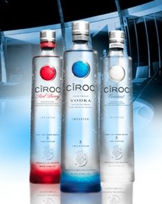 FAVE GLUTEN-FREE VODKA - Glutenista loves Ciroc Vodka Flavors (Red Berry & Coconut).  Ciroc is made from grapes, not grains, so you can drink it safely.