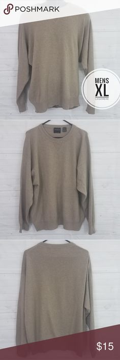 7419aad3b2cea9 Mens XL Cashmere Tan sweater by Forte Size Mens XL Brand Forte Tan Crewneck  soft cashmere