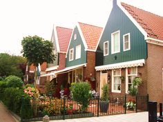 House with lacy curtains in Volendam - Netherlands