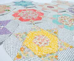 Smitten quilt in Liberty of London ..... Sew Sweet Violet