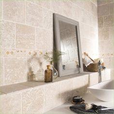 201 Panneau Mural Salle De Bain Imitation Carrelage Leroy Merlin 2018 Check more at www. Travertine Bathroom, Bathroom Floor Tiles, Modern Bathroom, Small Bathroom, Bathroom Ideas, Pool Bathroom, Bathroom Remodeling, Wood Look Tile, Opus
