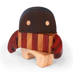 """Everyone meet """"Auggie"""", he is the first of 4 in a Premium Mini Figure collection named """"Scrambled Wood series"""" from Cameron & Rachael at Wood Candy Workshop."""
