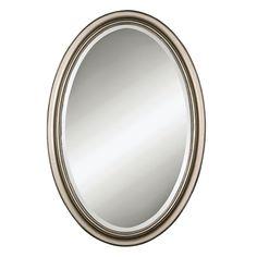 Petite Manhattan Wall Mirror, Grey