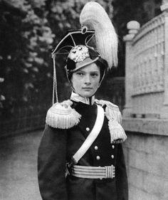 Grand Duchess Tatiana, daughter of Tsar Nicholas II of Russia, in military uniform, 1910.