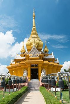 Wat Kroen Kathin Temple at Lopburi in Central Thailand