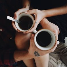coffee, love and tattoos But First Coffee, I Love Coffee, Black Coffee, Hot Coffee, Coffee Break, Morning Coffee, Coffee Shop, Coffee Cups, Tea Cups
