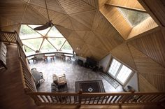 Cliff Severance's vacation house in Carroll Plantation. Severance, who lives in Virginia, started building the getaway home in 2006 near his hometown of Springfield. The building is the combination of two geodesic domes and is nearly complete.