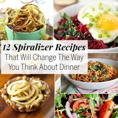 Spiralizer Recipes: 12 Spiralizer Recipes That Will Change the Way You Think About Dinner Healthy Recipes, Clean Recipes, Raw Food Recipes, Veggie Recipes, Low Carb Recipes, Diet Recipes, Vegetarian Recipes, Cooking Recipes, Zoodle Recipes