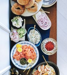 bagel bar // hangover cure new year's day brunch ideas