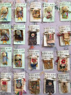 Ice Resin necklaces by karen michel Fiber Art Jewelry, Textile Jewelry, Fabric Jewelry, Textile Art, Jewelry Art, Jewellery, Fabric Beads, Fabric Art, Fabric Scraps