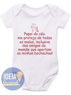 Body Infantil  - Papai do Céu Boss Baby, Family Shirts, Baby Bodysuit, Kids And Parenting, Little Girls, Humor, T Shirt, Clothes, Babys