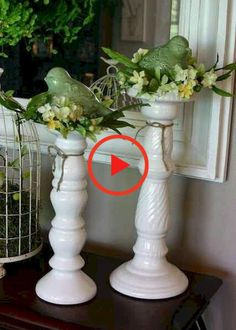 53 Crafty DIY Spring and Easter Decorations Ideas Spring Home Decor, Spring Crafts, Burlap Pillows, Owl Pillows, Decorative Pillows, Deco Floral, Flower Garlands, Candlesticks, Farmhouse Decor