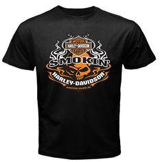 Harley Davidson Shirt: Harley Davidson Smokin Winston Salem NC T Shirt | T Shirt for Sale  $13
