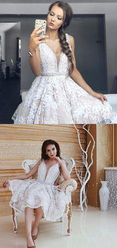 white lace homecoming dress, short white homecoming dress, 2017 white lace homecoming dress, party dress