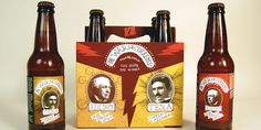There are two different kinds of beer in one six pack represented by two sides of the conflict. (fyi - tesla was not czech)