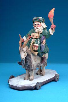 Vaughn Rawson Father Christmas Goat Pull Toy