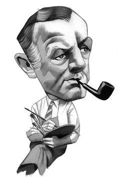 George Grosz by Fernando Vicente | Portraits – Caricatures II by Fernando Vicente | #pipes #painters #pipesmoking