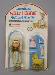 Knickerbocker Holly Hobbie Doll & Play Set of AMY With Baby & Stroller