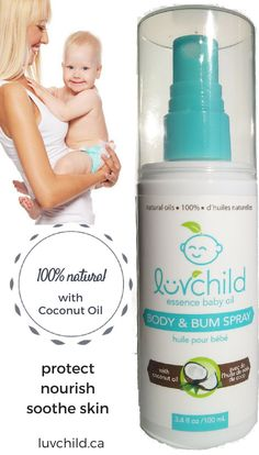 baby Body & Bum Spray . 100% natural . with COCONUT by luvchildinc