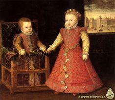 Las infantas Isabel Clara Eugenia y Catalina Micaela Alonso Sanchez Coello