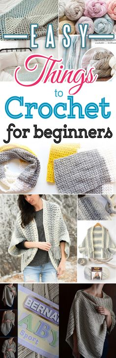 Light Frost Easy Blanket Crochet Sweater, Simple Crochet Wrap and more projects with free easy beginners crochet patterns - don't miss this one! #crochet  #freecrochetpattern #freecrochetpatterns