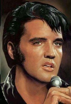 Elvis Presley -- Painted by Sara Lynn Sanders King Elvis Presley, Elvis Presley Family, Elvis And Priscilla, Elvis Presley Pictures, Portraits, Graceland, American Singers, My Idol, Movie Stars