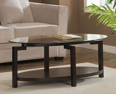 Stylish Tanner Espresso Coffee Table with Shelf