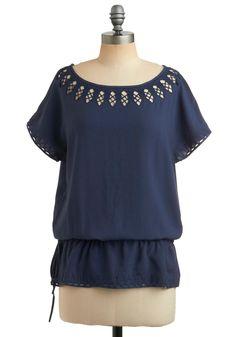 Must Sea Top | Mod Retro Vintage Short Sleeve Shirts | ModCloth.com
