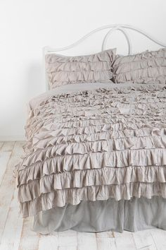 Waterfall Ruffle Duvet Cover Online Only Available in Twin XL