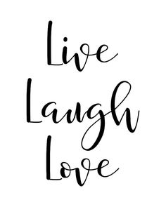 """Printable Wall Art Quote """"Live Laugh Love"""", Typography Poster, Motivational…"""
