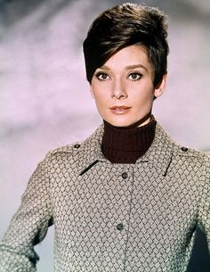 Audrey Hepburn ♥ 1967 I'm liking this hair style too...