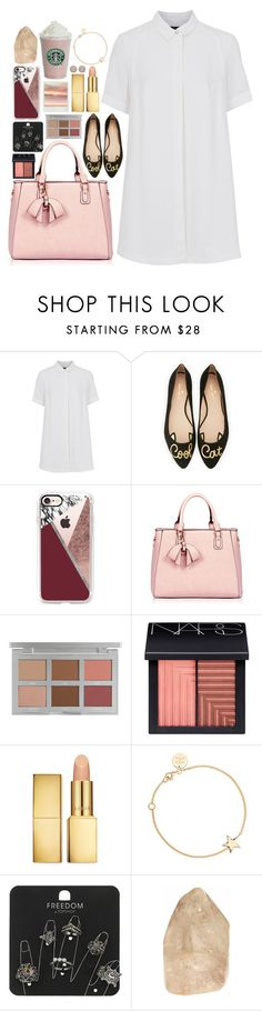 """""""12.4.16"""" by the-dancing-wolf ❤ liked on Polyvore featuring French Connection, Kate Spade, Casetify, NARS Cosmetics, AERIN, SOPHIE by SOPHIE and Topshop"""